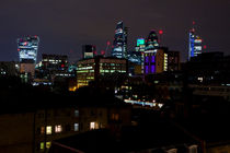 Londoner skyline by night von Jessy Libik