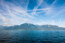 French mountain skyline over the Geneva Lake von Jessy Libik