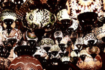 Beautiful Colored Arabian Lamps In Oriental Grand Bazaar Of Istanbul by Radu Bercan