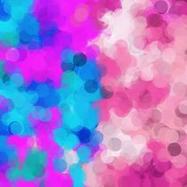 pink and blue painting circle abstract background by timla