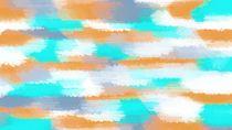 orange and blue painting abstract von timla