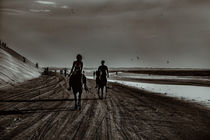 Young Couple Riding Horses at the Beach by Daniel Ferreira Leites Ciccarino
