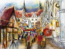 Weihnachten im Stallhof des Dresdner Schlosses von Hartmut Buse