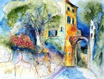 Corvara Ligurien Ansicht mit Torbogen von Hartmut Buse