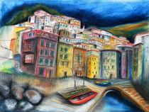 Riomaggiore Cinque Terre Ligurien von Hartmut Buse