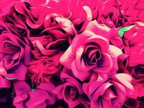 drawing and painting pink roses texture background von timla