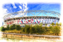 West Ham Olympic Stadium London Art von David Pyatt