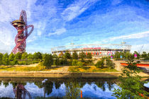 West Ham Olympic Stadium And The Arcelormittal Orbit Art von David Pyatt