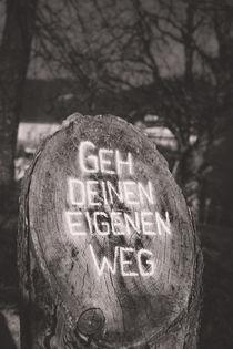 Geh deinen eigenen Weg - Go your own way by Silvia Eder
