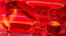 "Diptych of Fiery water bubbles - Diptychon ""Feurige Wasserblasen"" (1) by Silvia Eder"