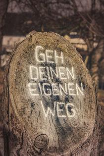 Go your own way - Geh deinen eigenen Weg by Silvia Eder
