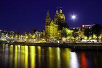 Amsterdam im Mondschein von Patrick Lohmüller