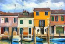 Häuser am Kanal von Wolfgang Pfensig