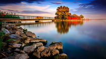 Balaton waterside and the Island Bath von Zoltan Duray