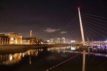 River Tawe at night by Leighton Collins