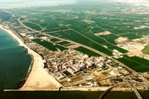 Aerial Photo Of Valencia City Surrounding Area In Spain by Radu Bercan