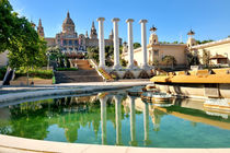National art museum and fountain, Placa de Espanya, Barcelona, Spain von Tania Lerro