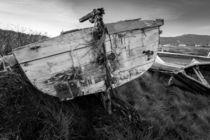 Isle of Lewis, Outer Hebrides, Scotland Abandoned boat near Loch Erisort by kytefoto