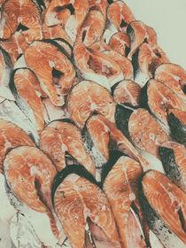Salmon For Sale In Fish Market by Radu Bercan