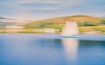Abstract sailing boat - Abstraktes Segelschiff von Silvia Eder