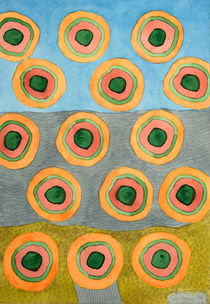 Circles in Front of the Beach by Heidi  Capitaine