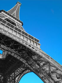 Eiffel tower Paris black and white with color von mrsplash