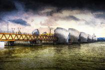 The Thames Barrier London Art by David Pyatt