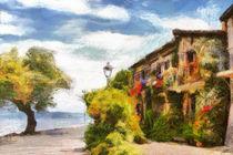 Haus am See von Wolfgang Pfensig
