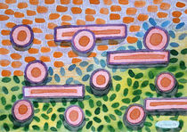 Bars and Dots on a Lawn by Heidi  Capitaine