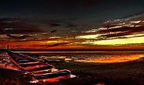 The Beach at Sunset (Digital Art)  by John Wain