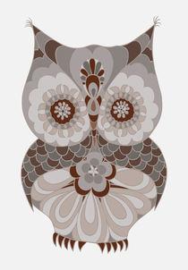 Minimalist Owl Art  by Piia  Põdersalu