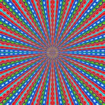 red blue and green line drawing abstract background by timla
