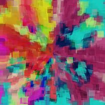 pink red orange yellow blue and green square pattern abstract background by timla