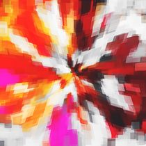 red orange pink and black square pattern painting abstract background von timla