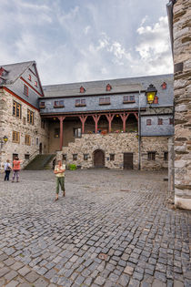 Schlosshof in Limburg 52 by Erhard Hess