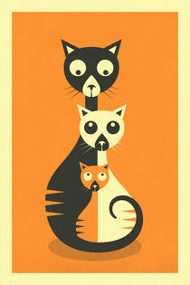 3 Cats by Jazzberry  Blue