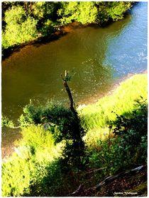 River Lahn Above  von Sandra  Vollmann