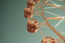 Giant Ferris Wheel In Fun Park On Night Sky by Radu Bercan