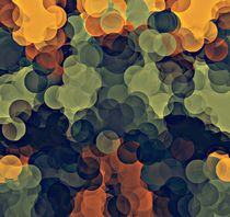 yellow green and brown circle pattern abstract background von timla