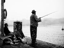 Fishing on a foggy morning by Hasse Linden