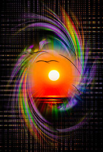 Sonnenuntergang - Abstrakt by Walter Zettl
