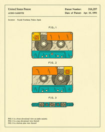 CASSETTE PATENT (1991) by Jazzberry  Blue
