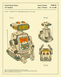 ROBOT PATENT (1988) by Jazzberry  Blue