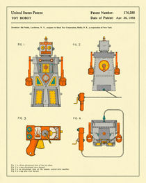 ROBOT PATENT (1955) by Jazzberry  Blue
