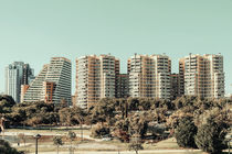 Valencia City Skyline In Spain by Radu Bercan