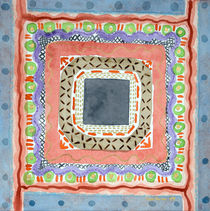 Decorated Gray Central Square  von Heidi  Capitaine