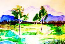 marsh landscape -  Moorlandschaft by Maria-Anna  Ziehr