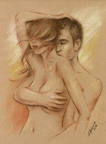 Sexy Pärchen - erotische Malerei von Marita Zacharias