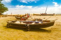 Boats at Sand at Beach of Jericoacoara Brazil by Daniel Ferreira Leites Ciccarino