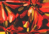 red black and yellow circle pattern abstract background by timla